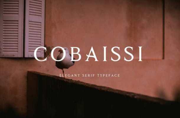 Cobaissi Serif Font
