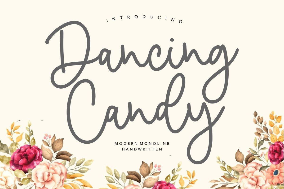 Dancing-Candy-Monoline-Handwritten-Font