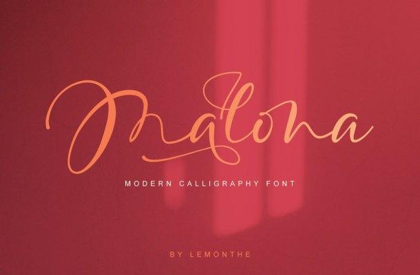 Malona Calligraphy Script Font