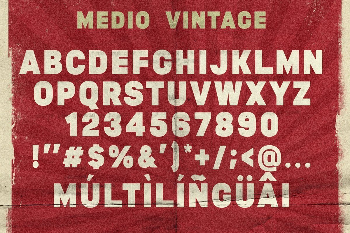 Medio-Vintage-Display-Font-3