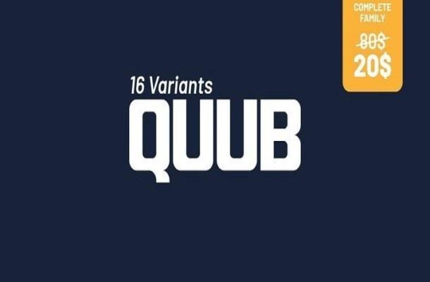 Quub Sans Serif Font Family