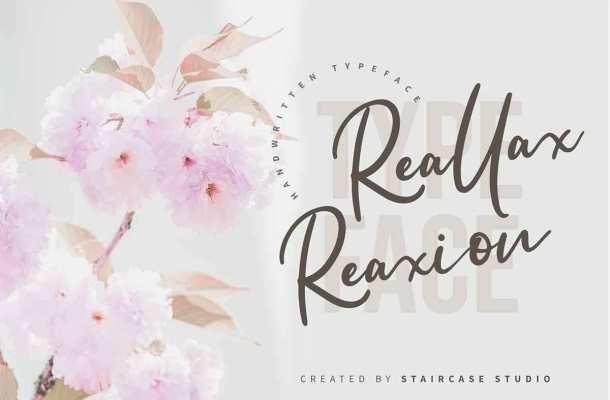 Reallax Reaxion Handwritten Font