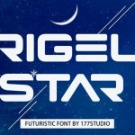 Rigel Star Futuristic Display Font