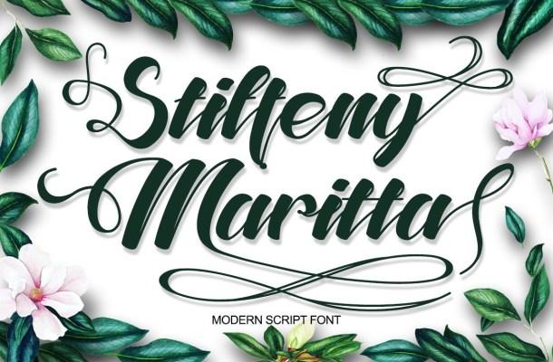 Stiffeny Maritta Calligraphy Script Font