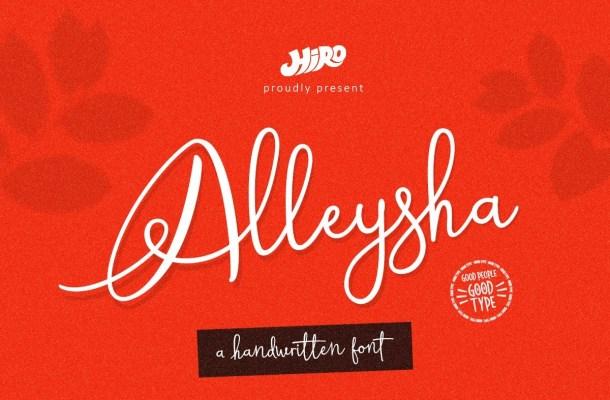 Alleysha Handwritten Script Font
