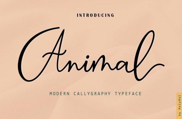 Animal Modern Calligraphy Script Font