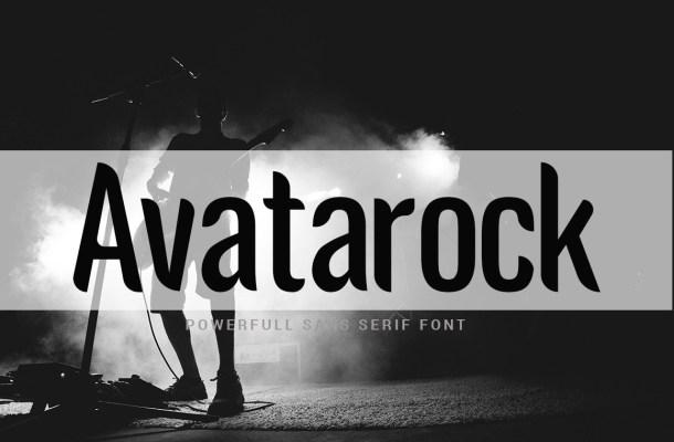 Avatarock Sans Serif Display Font