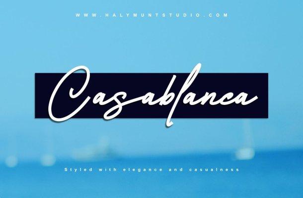 Casablanca Monoline Signature Script Font