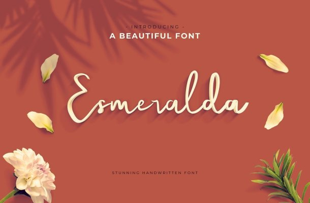 Esmeralda Handwritten Script Font