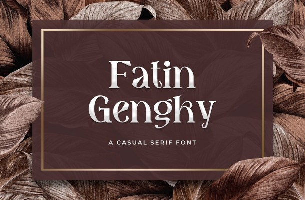 Fatin Gengky Casual Serif Font