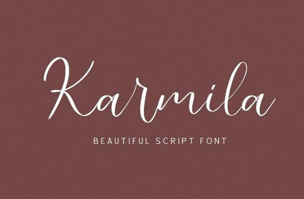 Karmila Handwritten Script Font