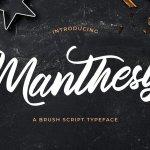 Manthesy Bold Script Font