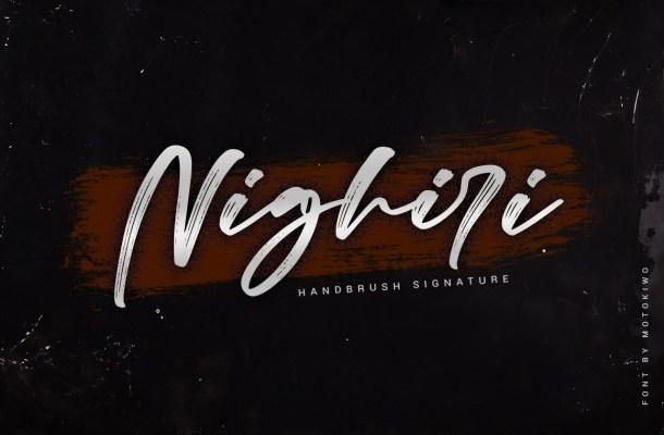 Nighiri Handbrush Script Font