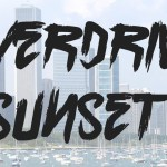 Overdrive Sunset Brush Font