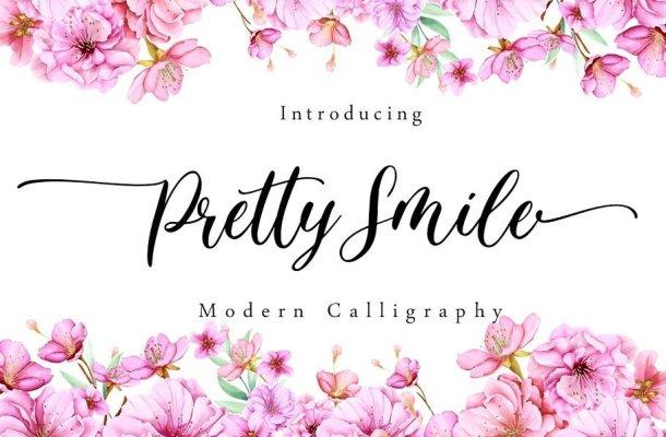 Pretty Smile Calligraphy Script Font