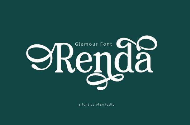 Renda Bold Modern Serif Font