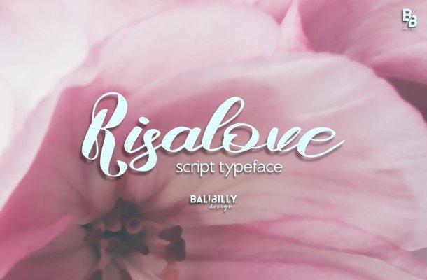 Risalove Calligraphy Script Font