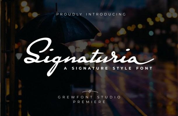 Signaturia Signatur Script Font