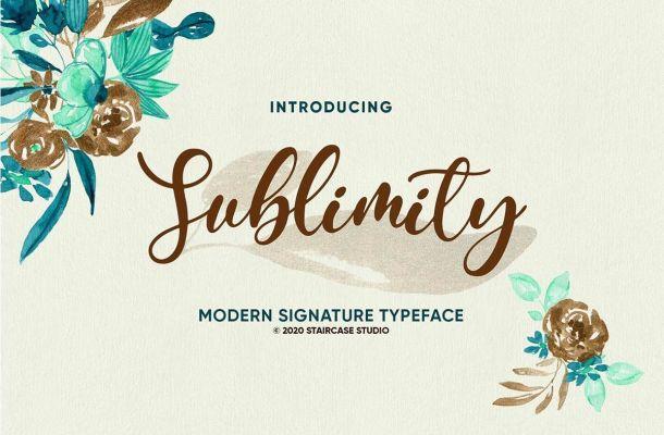 Sublimity Calligraphy Script Font