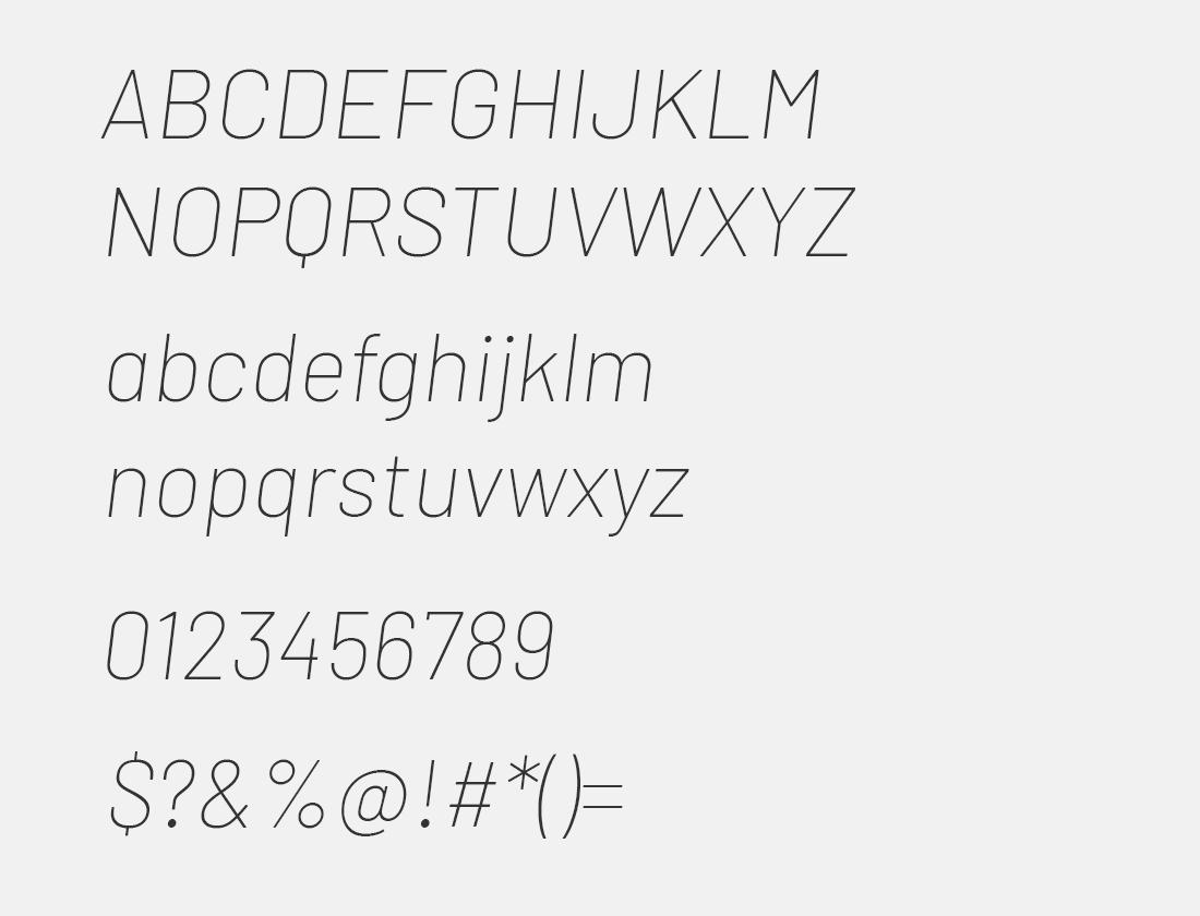 2 Barlow thin italic
