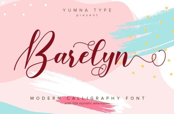 Barelyn Calligraphy Script Font