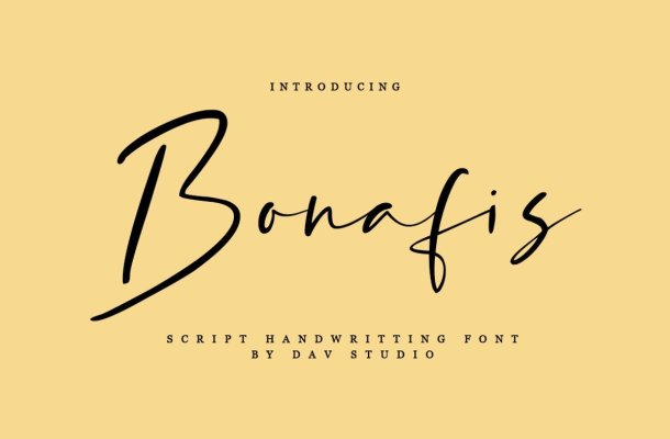 Bonafis Handwritten Script Font