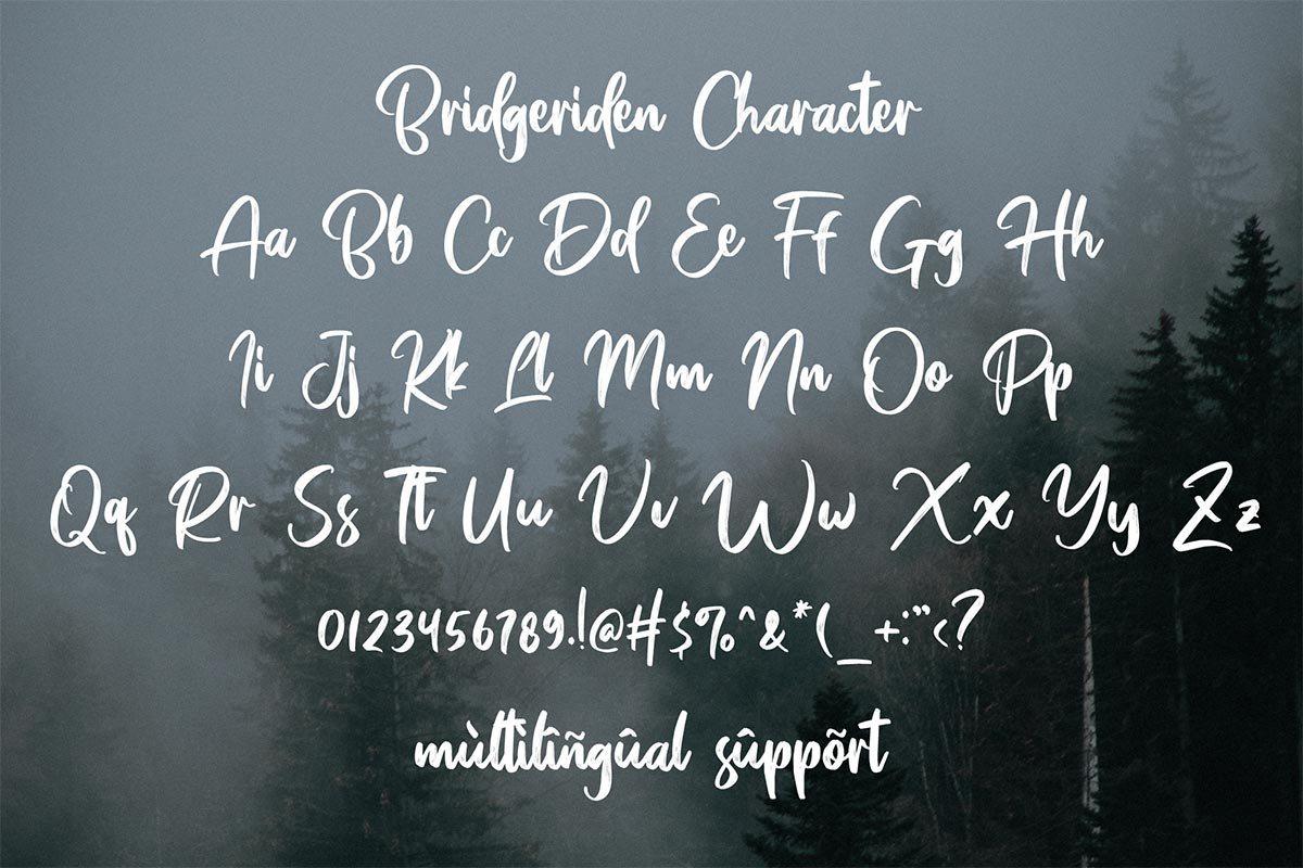 Bridgeriden-Brush-Script-Font-4