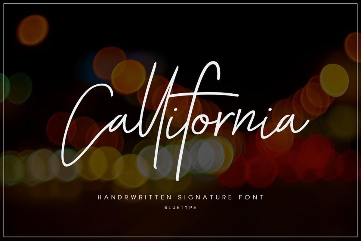 Callifornia-Handwritten-Signature-Font
