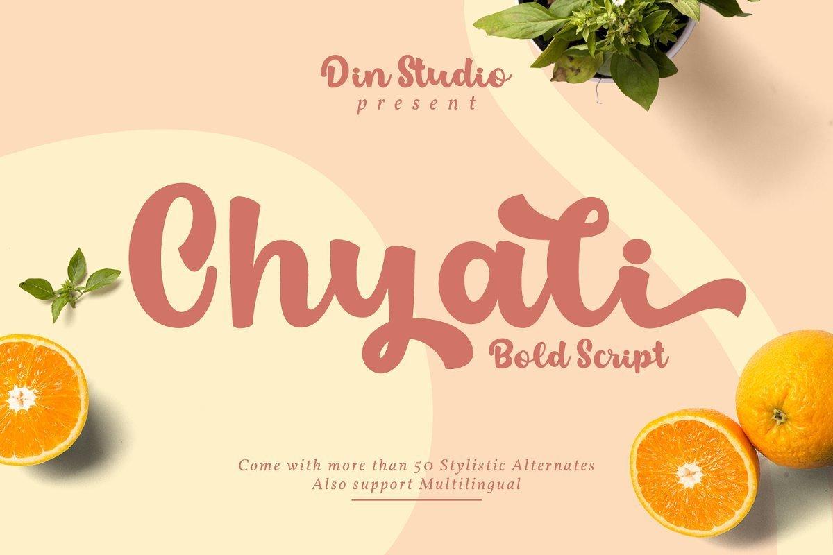 Chyali-Bold-Script-Font