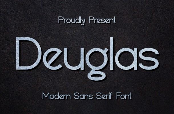 Deuglas Modern Sans Serif Font