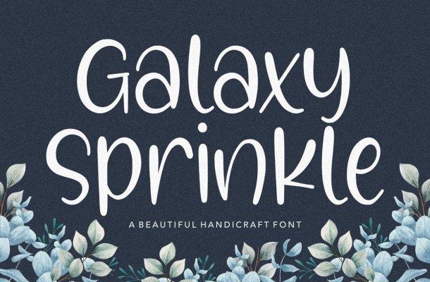 Galaxy Sprinkle Handcraft Script Font
