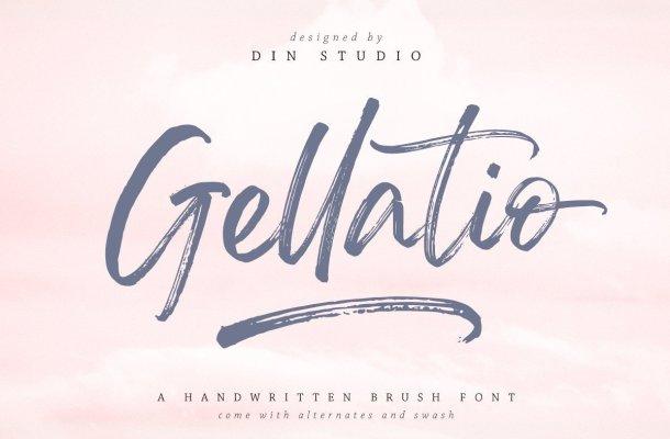 Gellatio Brush Script Font