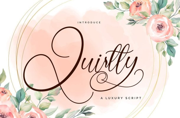 Quirtty Luxury Calligraphy Script Font