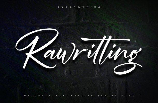 Rawriting Uniquely Handwriting Script Font