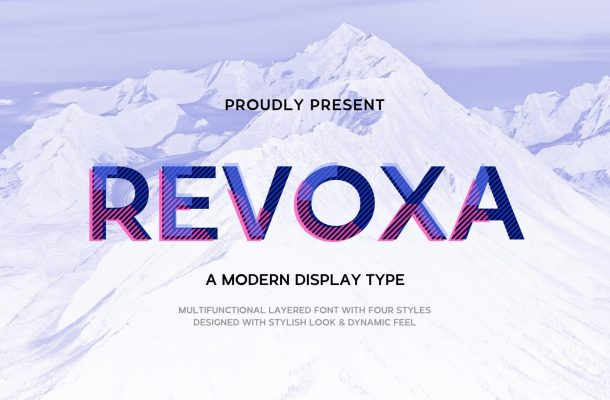 Revoxa Modern Display Typeface