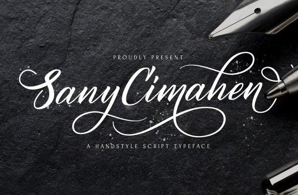 Sany Cimahen Calligraphy Script Font