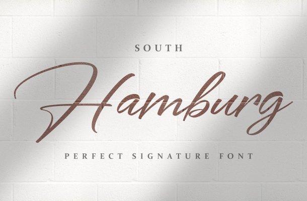 South Hamburg Handwritten Signature Font