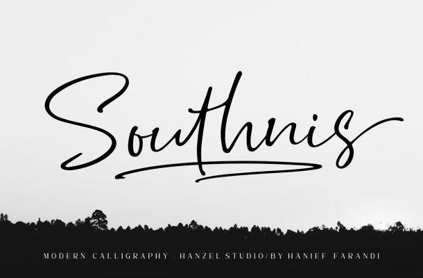 Southnis Handwritten Signature Font