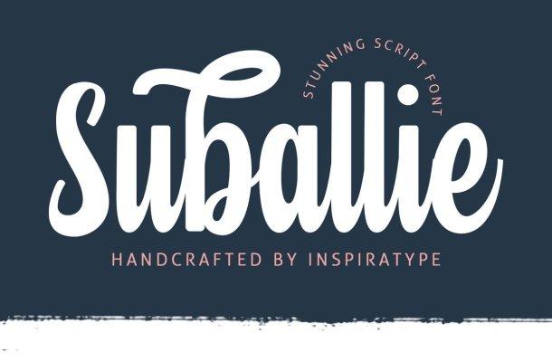 Suballie Bold Script Font