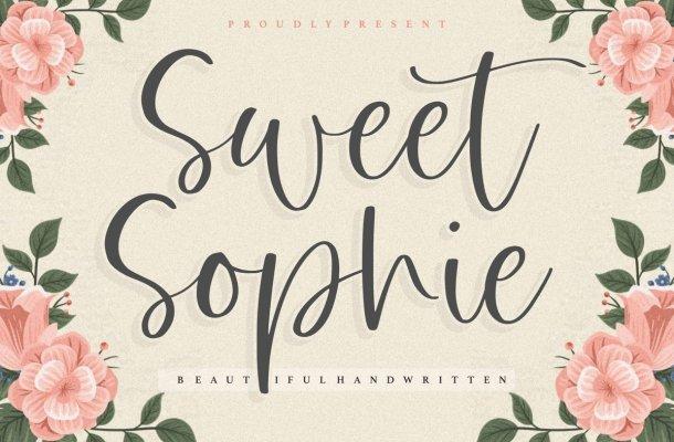 Sweet Sophie Handwritten Script Font