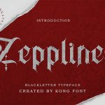 Zepplines Blackletter Typeface