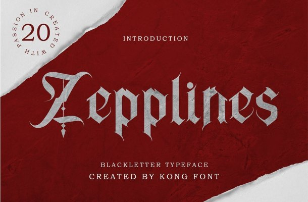 Zepplines-Blackletter-Typeface-1