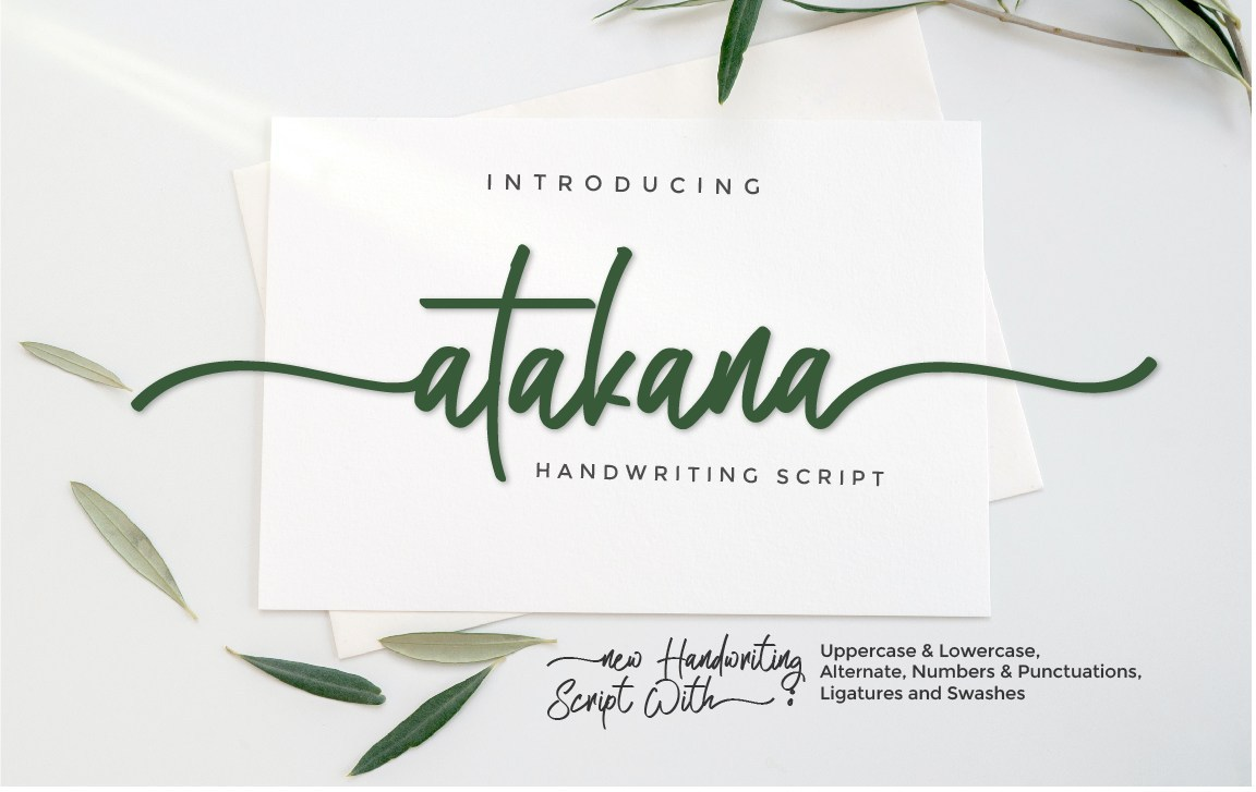 Atakana-Handwritten-Script-Font