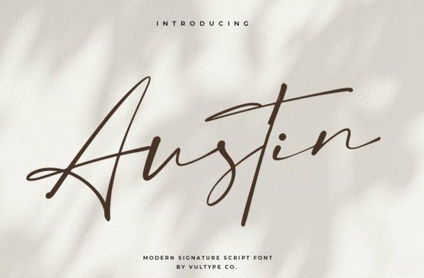 Austin Signature Script Font