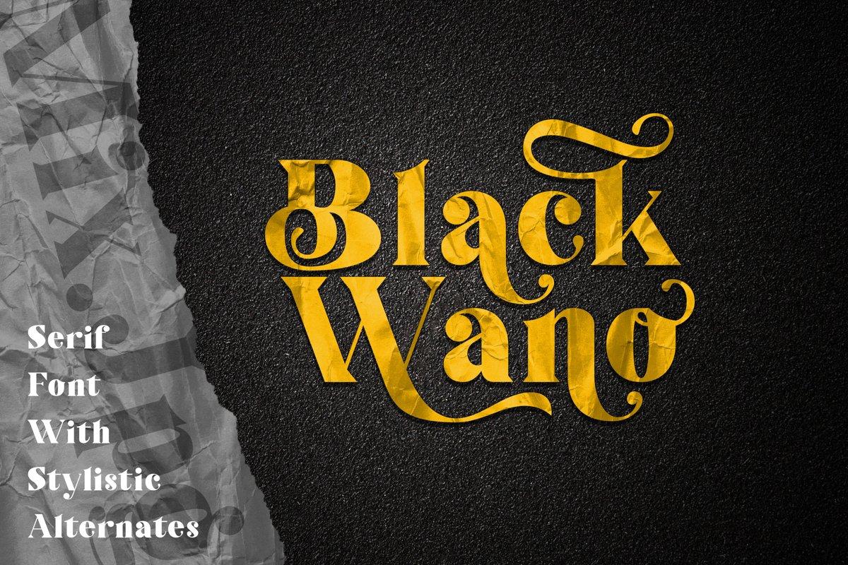 Black-Wano-Serif-Typeface