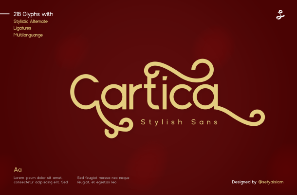 Cartica-Stylish-Sans-Serif-Font