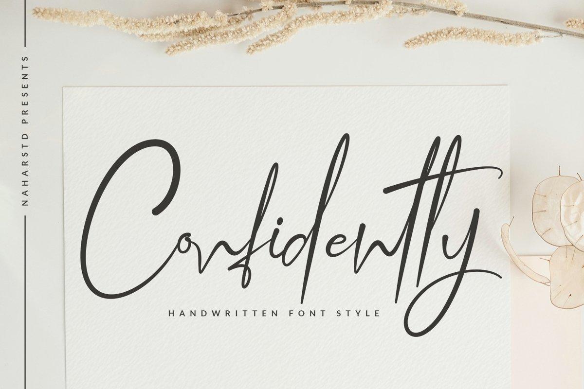 Confidently-Handwritten-Script-Font
