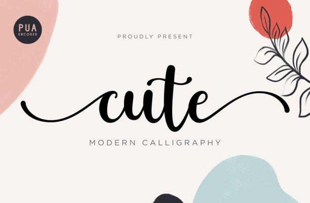 Cute Modern Calligraphy Font