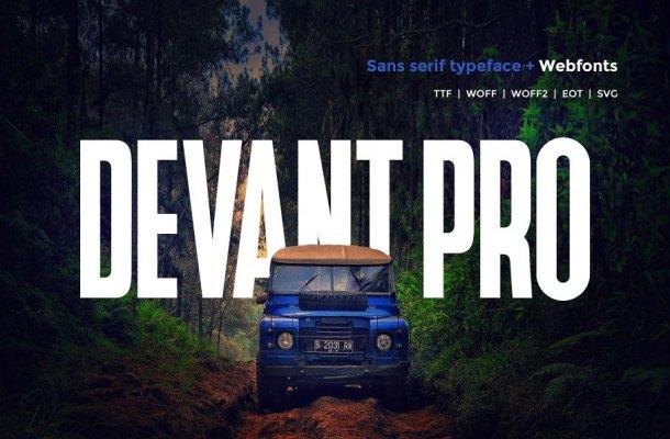 Devant Pro Modern Sans Typeface