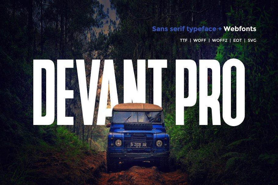 Devant-Pro-Modern-Sans-Typeface
